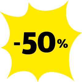 -50% de réduction