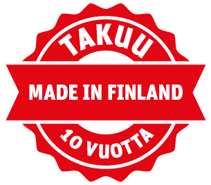 10 year warranty - Made in Finland