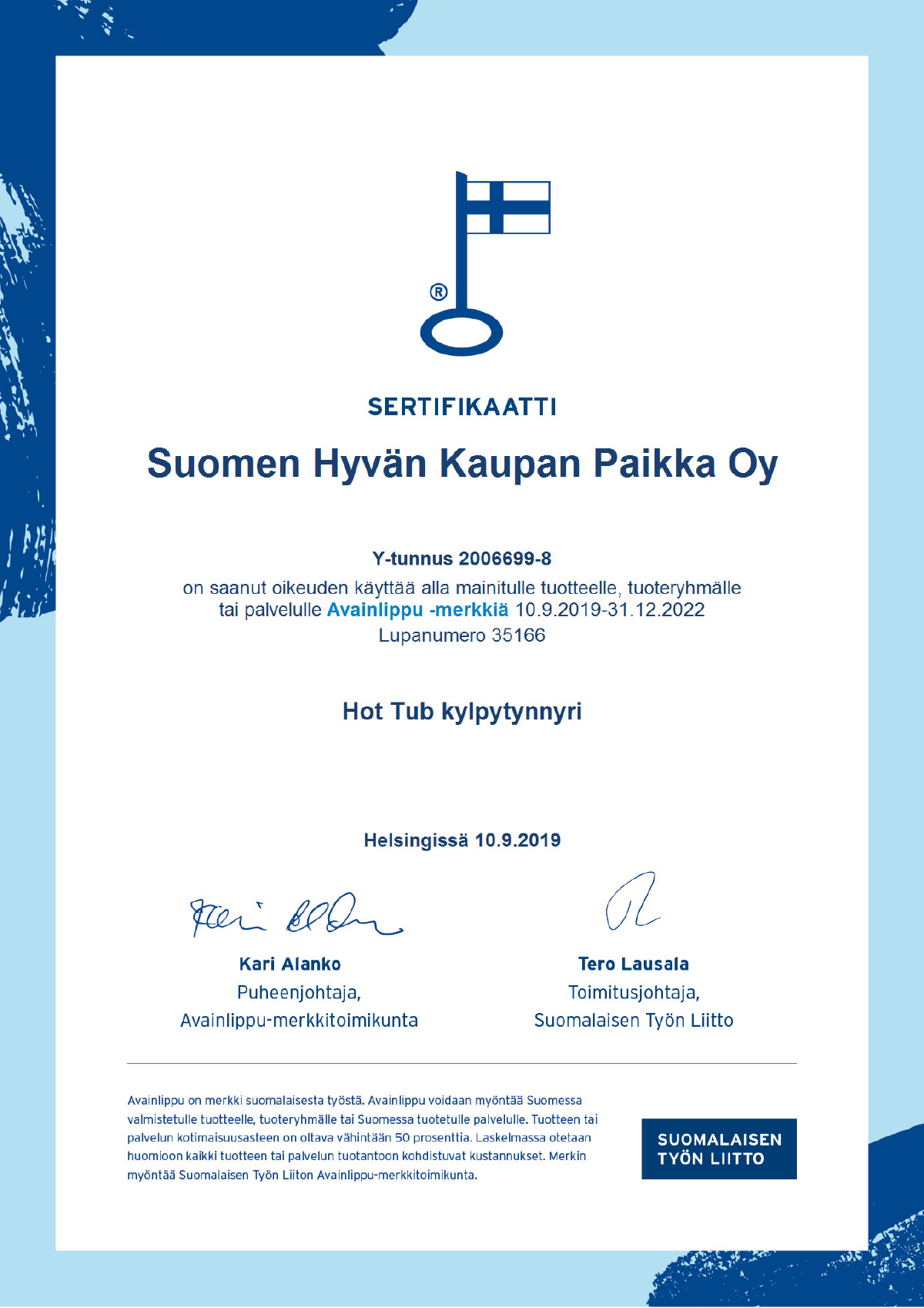 Key Flag Certificate