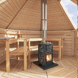 Sauna house DeLuxe Glass roof Round log