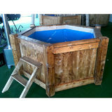 6-corner hot tub 240 cm with external heater