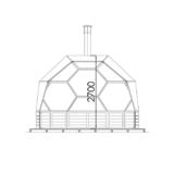 Arctic Light House gig sauna 11 m2 coupé