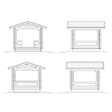 Barbecue shed facades
