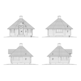 Barbecue hut Classic + Additional package facades
