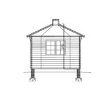 Pavillon 9 m2 geschnitten