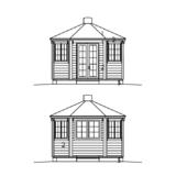 Pavillon 9 m2 Fassaden
