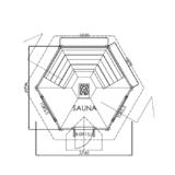 Sauna house Planed log 9 m2 floor plan