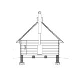Sauna house Planed log 9 m2 cut