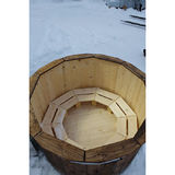 Hot tub 160 cm with external heater