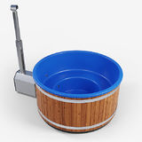 Pool color: Navy Outer lining: Deep heat treated pine