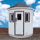 Vertical barrel sauna White
