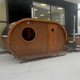 The sleigh sauna is on your feet as a complete package!