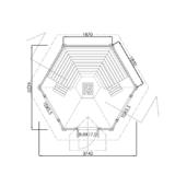 Sauna house Arctic DeLuxe Round log floor plan