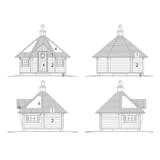 Sauna house Arctic DeLuxe Round log facades