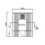 Barrel sauna On the front terrace floor plan