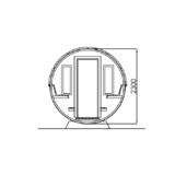 Barrel Deluxe Deluxe Front Terrassenschnitt