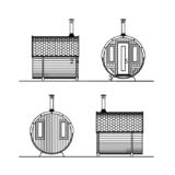 Barrel Deluxe Deluxe Fassaden an der vorderen Terrasse