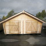 Log barn with solid wall 20 m2
