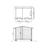 Warehouse-wooden floor plan