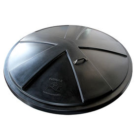 Hot tub plastic lid 184 cm, black