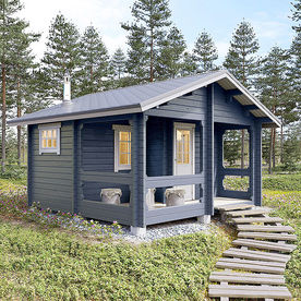 Courtyard cottage with sauna 18,5 m2