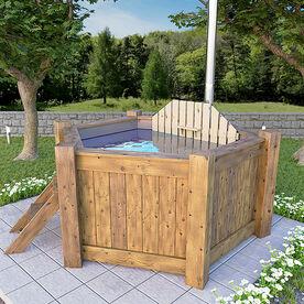 6-corner hot tub 240 cm