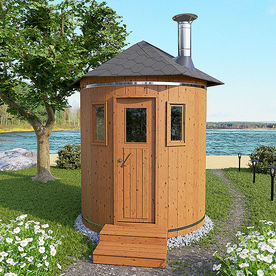 Vertical Barrel Sauna
