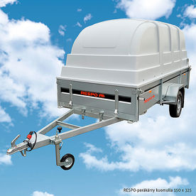 RESPO trailer with canopy 150 x 325
