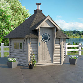 Sauna house Round log 9 m2