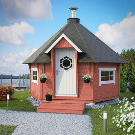Sauna house Planed log 9 m2