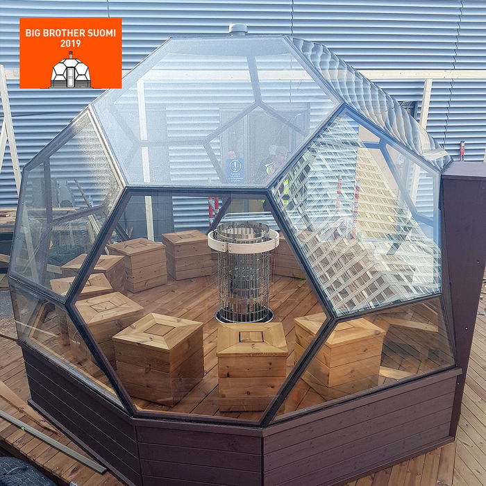 Arctic Light House gig sauna included in Big Brother 2019