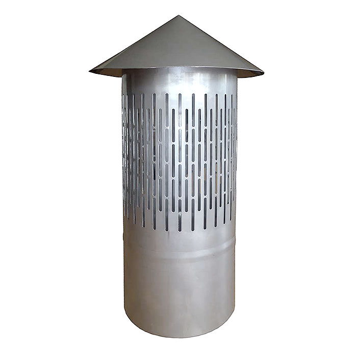 Hot tub chimney spark protection