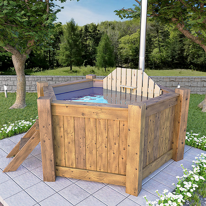 6-corner hot tub 240 cm