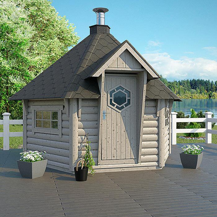 Sauna house Round log 9 m2